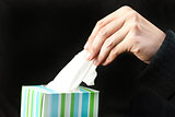 Hand Pulls Tissue