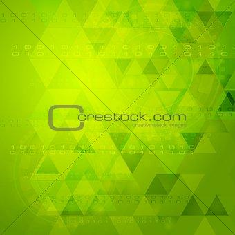Green tech vector design