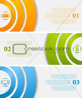 Abstract infographic vector tech banners