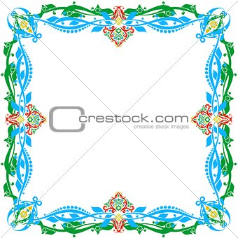 Abstract ornamental frame