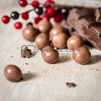 Closeup chocolate
