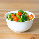 Bowls of variety vegetables