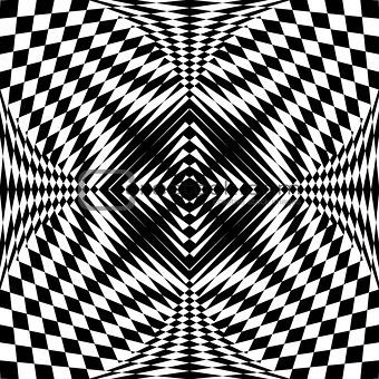 Abstract pattern in op art design.