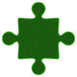Green grass puzzle piece