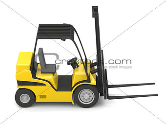 Modern yellow forklift