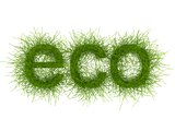 Eco-Style Grass Letters