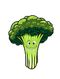 Fresh broccoli with a happy face