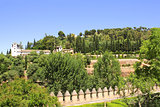 Garden in Alhambra Castle, Spain