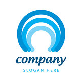 blue stripes logo