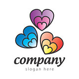 logo colored hearts