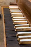 Church organ keyboard