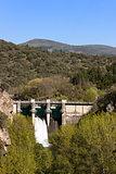 Montearenas Dam in Ponferrada, El Bierzo, Spain.