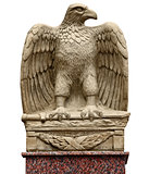 Antique statue - eagle with a sword