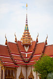 Facade of Buddhist temple. Thailand, wat Chalong.