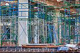 Under construction reinforced concrete buildings