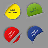 Set of colorful round labels in your pocket