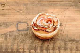 Apple cakes like flower