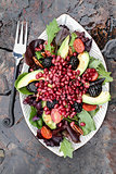 Pomegranate, Avocado and Blackberry Salad