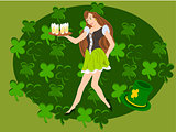 irish barmaid short skirt