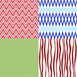 Set colorful vintage patterns
