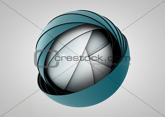 abstract vintage globe symbol, business concept