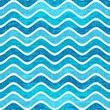 Seamless blue wave striped pattern