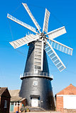 windmill in Heckington, East Midlands, England