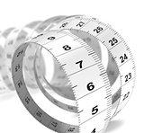 Diet Concept - Plastic Tape Measure