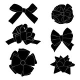 Gift bows silhouettes