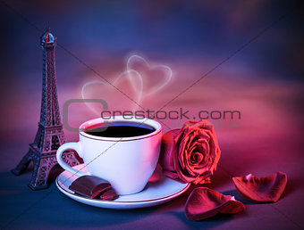 Valentine day still life