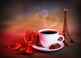 Morning tea in Valentine day