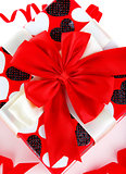 Red romantic gift box
