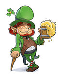 Dwarf with beer. Illustration for saint Patricks day.