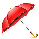 Realistic Open Red Umbrella