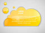 Speech bubble cloud vector illustration