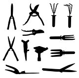 Garden Tools Set. Vector Illustration.