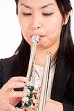 Portrait of a Female Trumpet Player