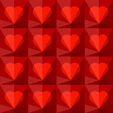 Background with crystal hearts