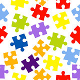 Seamless pattern with color puzzles