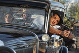 1920s Gangster Drive By Shooting