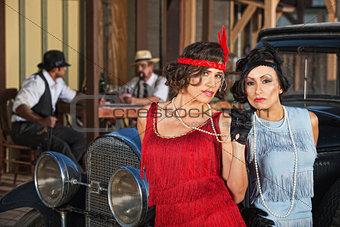 Attractive Hispanic Retro Women