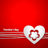 Valentine's Day Greeting Card on red background