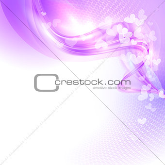 Abstract colorful light valentine background