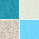 Seamless pattern with curl