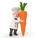 The 3D cook with carrot.