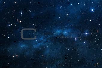 Blue Nebula space background