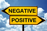 Negative or positive, opposite signs