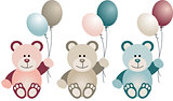 Lovely Baby Teddy Bear with Balloons