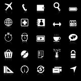 Application icons with reflect on black background. Set 2