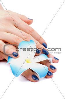 Blue Manicure